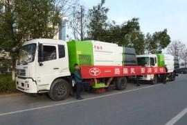 两台干式扫路车发往山东